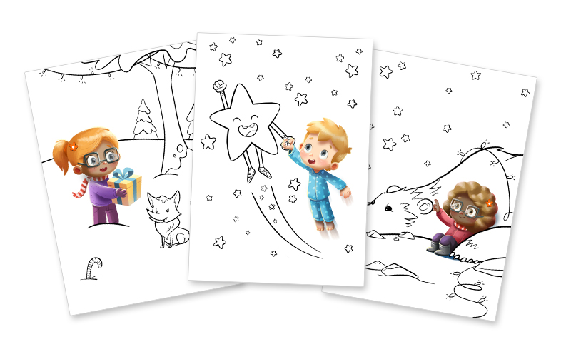 - Hooray Heroes - Personalized Christmas Coloring Book
